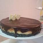 Tarta de cheesecake y chocolate