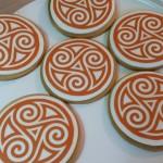 Galletas decoradas con motivo celta